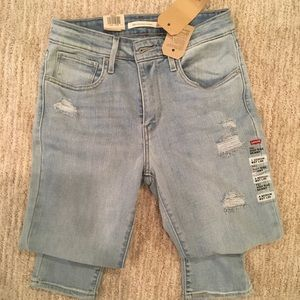 Levi's 721 High Rise Distressed Skinny Jean